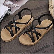 Sandal nữ giả cói nhẹ chống thấm nước thời trang đi học đi biển thumbnail