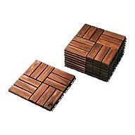 Combo 5 Ván Sàn gỗ tự nhiên vỉ nhựa ngoài trời 12 nan lót ban công nhà tắm sân vườn, chịu mưa nắng thời tiết tốt thumbnail
