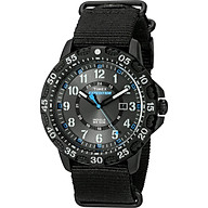 Timex Men s TW4B03500 Expedition Gallatin Black Blue Nylon Slip-Thru Strap Watch thumbnail