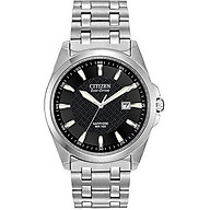 Citizen Men s Eco-Drive Stainless Steel Dress Watch with Date, BM7100-59E thumbnail