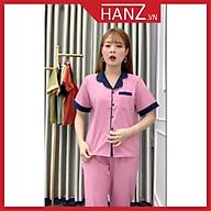 Bộ pijama áo cộc quần dài bộ ngủ phi lụa cao cấp mềm mại thoải mái dễ thương giá rẻ H23 thumbnail