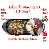 Bếp lẩu nướng 5D cao cấp 2 trong 1 - Nồi lẩu nướng đa năng cho cả gia đình thumbnail