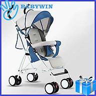 Xe đẩy đơn BABYWIN58 Xe đẩy cho bé gấp gọn có mái che khung sơn tĩnh điện thumbnail