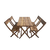 Bộ bàn xếp Leti Islands gỗ keo thumbnail