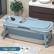 Bồn tắm gấp gọn bằng silicon cao cấp -bồn tắm cho cả gia đình 1m18-hàng chính hãng thumbnail