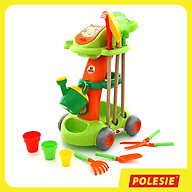 Bộ đồ chơi xe đẩy làm vườn an toàn cho bé, giúp phát triển trí tưởng tượng, hàng chính hãng Polesie Toys thumbnail