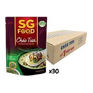 Thùng cha o tươi Sài Gòn Food Lươn & Đậu xanh 270g x 30 gói thumbnail
