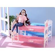 Mẫu giường 2 tầng lắp ráp được cho búp bê 30cm thumbnail