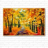 Tranh canvas treo tường tranh sơn dầu phong cảnh rừng thu CA145 - Vải canvas kim tuyến cán PiMa - công nghệ in UV hiện đại - Khung viền composite - độ bền màu trên 10 năm. thumbnail