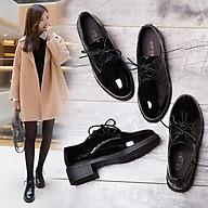 Giày Oxford Nữ Da Đế Cao 4cm Cá Tính Phong Cách Hàn Quốc Mery Shoes - MBS186 thumbnail