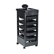 Hair Salon Trolley Rolling Cart SPA Beauty Hairdressing Tool Storage Organizer with 5 Drawers and Wheels thumbnail