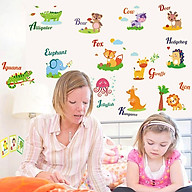 Decal dán tường trang trí phòng ngủ, lớp mầm non- Thú dạ quang- mã sp DABQ9613 thumbnail