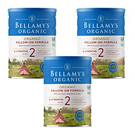3 Lon Sữa Bột Bellamy s Organic Số 2 (900g) thumbnail