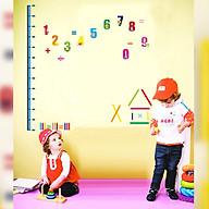 Decal trang trí phòng cho bé- Thước đo chiều cao số 123- mã sp DAY745 thumbnail