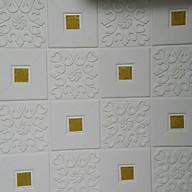 10 tấm xốp dán tường giả da điểm vàng thumbnail