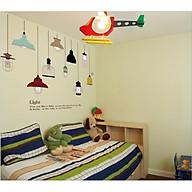Tranh dán tường 3D hình đèn xinh xắn - TDT11 thumbnail