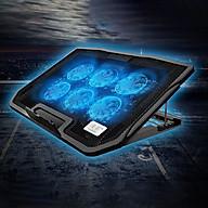 Đế tản nhiệt laptop, máy tính xách tay H9 có đèn LED 6 quạt giúp làm mát nhanh bảo vệ máy tính mà không gây ồn thumbnail