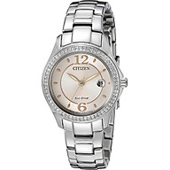 Citizen Women s Eco-Drive Silhouette Crystal Watch with Date, FE1140-86X thumbnail