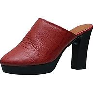 Sục nữ cao gót da bò thật cao cấp màu đỏ đô ESW292 thumbnail