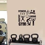 Decal dán tường phòng Gym, Fitness, Healthy, Living thumbnail