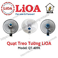Quạt treo tường có điều khiển QT-409K LiOA - MITA - Hàng Chính Hãng thumbnail
