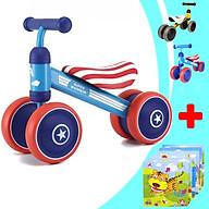 Xe chòi chân 4 bánh tự cân bằng giúp bé giữ thăng bằng cho bé tập đi - siêu dễ thương (TẶNG KÈM BẢNG GHÉP TRANH 9 MẢNH CHO BÉ - CHỦ ĐỀ NGẪU NHIÊN), xe chòi chân mini 4 bánh cho bé, xe chòi chân, xe chòi chân cho bé thumbnail