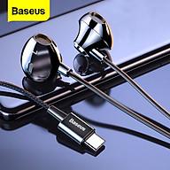 Tai nghe in-ear có dây Baseus C06, âm thanh nổi 3,5 mm với micrô, phù hợp với điện thoại thông minh như iPhone và Xiaomi thumbnail