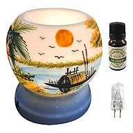 Combo tinh dầu sả chanh Eco oil 10ml cùng đèn xông tinh dầu MNB34 và 1 bóng đèn thumbnail