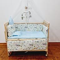 Giường cũi cho bé đa năng trọn bộ. Cũi gỗ kèm màn, đệm, quây, gối. treo nôi phát nhạc, kích thước 105 60 90 (D R C) thumbnail