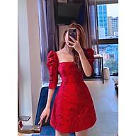 Đầm gấm đỏ siêu sang , quyến rũ cho các nàng thumbnail