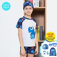 Đồ Bơi Bé Trai Kiểu Áo Quần Rời Tay Ngắn KHỦNG LONG Tặng Kèm Nón Bơi, Với Nhiều Màu & Size Áo Lựa Chọn, Hình In Đẹp Sắc Nét Chất Liệu Vải Cao Cấp thumbnail