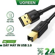 Dây máy in USB 2.0 chuẩn A đực sang chuẩn B đực độ dài từ 1-5m UGREEN US135 - Hàng Chính hãng thumbnail