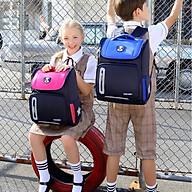 Ba lô tiểu học, ba lô chống gù cho bé gái hình gấu G275 thumbnail
