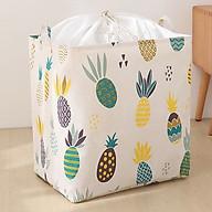 Túi vải đựng chăn mền drap, quần áo có quai xách dạng túi rút dây kiểu dáng sang trọng - Size Đại (40x50x30cm) - TẶNG 1 móc treo thumbnail