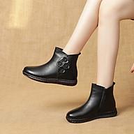 Giày Boots Nữ Điểm Nhấn 4 Bông Hoa Chất Liệu Da Cao Cấp, Bền Đẹp 2298 thumbnail