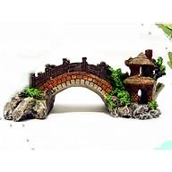 Mô hình cầu cảnh trang trí hồ nông bộ bể cá, thác nước + Tặng kèm hình dán ngộ nghĩnh (màu ngẫu nhiên) thumbnail