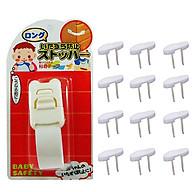 Combo Khóa ngăn kéo, tủ lạnh trẻ em (mẫu mới) và Bộ 12 bịt ổ điện nội địa Nhật Bản thumbnail