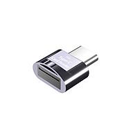 Mini Type-C Card Reader Support USB 3.1 Type-C Port Memory Card Reader for Type-C Port Phone Tablet Laptop Grey thumbnail