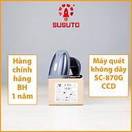 Máy quét mã vạch không dây đơn tia CCD 1D SC-870G - Hàng chính hãng thumbnail