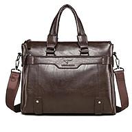 Túi xách cặp da bò đựng laptop T05-1 39x30x8cm (Nâu đậm-Nâu sáng-Đen) thumbnail