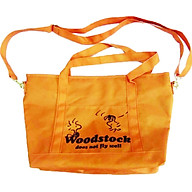Túi đeo chéo vải nữ thương hiệu Snoopy cam thumbnail