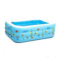 Bể bơi phao 3 tầng hình chữ nhật 1,3m cho bé thumbnail