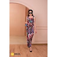 Jumpsuit dài nữ thiết kế MECIA JS027- Jum nữ 2 dây dáng dài họa tiết hoa, set đồ nữ cao cấp - thắt eo chất liệu vải mát thumbnail