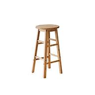 Ghế Gỗ Bar stool Thiết Kế Hiện Đại Phong Cách NỘI THẤT TC205 Gỗ cao su - cao 60cm thumbnail