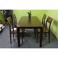 Bộ bàn ăn gỗ tự nhiên 4 ghế Pula thumbnail