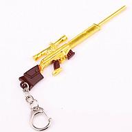 Móc khóa mô hình trong Game PUBG mẫu M4 vàng kim thumbnail