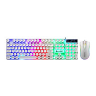 D290 Keyboard and Mouse Combo with Wired 104 Keys Backlight Punk Keyboard Wired Colorful 3D Mouse for Laptop PC thumbnail