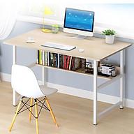 Bàn làm việc cao cấp New Life NT82 - Mặt bàn phủ chống xước - Có kệ để sách - Tặng miếng giữ dây sạc điện thoại - Kích thước 80x40cm - Hàng chính hãng thumbnail