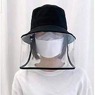 mũ vải vành tròn có tấm kính chống dịch chống bụi thumbnail