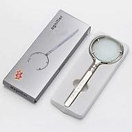 Kính lúp 8X cầm tay (Made in Russia) - Tặng kèm quạt mini cắm cổng USB vỏ thép thumbnail